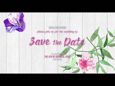 Tell Your Story Animated Save the Date Slideshow - INT004