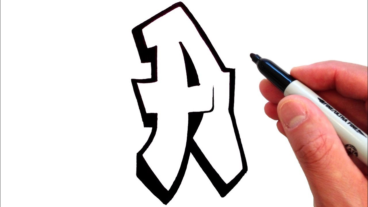 How to Draw the Letter A in Graffiti Style - EASY!