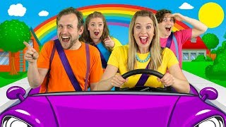 Let's Drive - Driving In My Car Song | Nursery Rhymes and Songs for Children