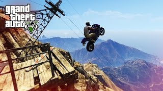 EPIC MOTORBIKE STUNT JUMPS! - (GTA 5 Top 10 Stunts)