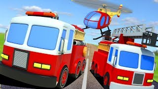 Learn Emergency Vehicles | Street Vehicle Videos For Kids