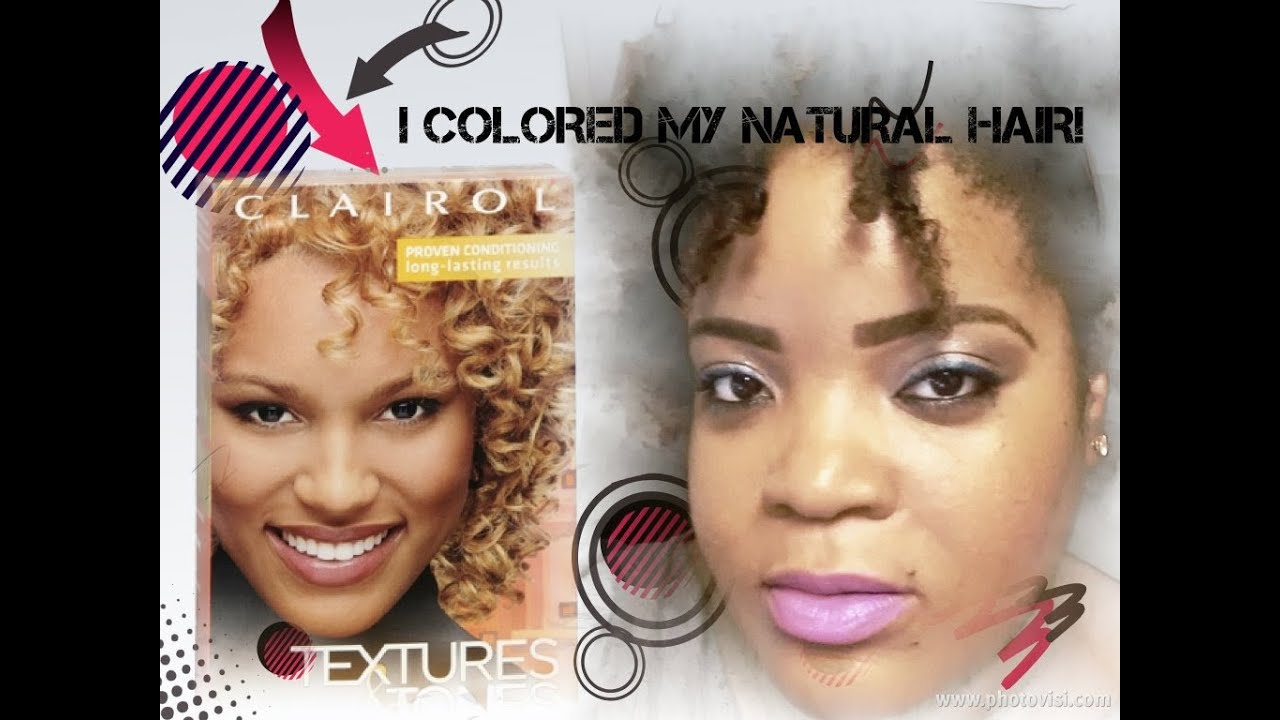 Coloring Ombre Effect My Natural Hair Using Clairol