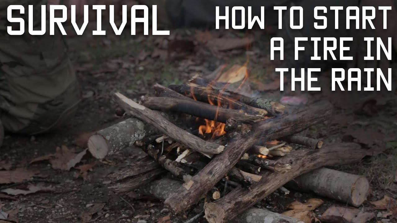 how to start a fire in the rain survival training tactical rifleman youtube. Black Bedroom Furniture Sets. Home Design Ideas