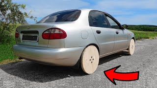 Experiment: WOODEN WHEELS on a real CAR