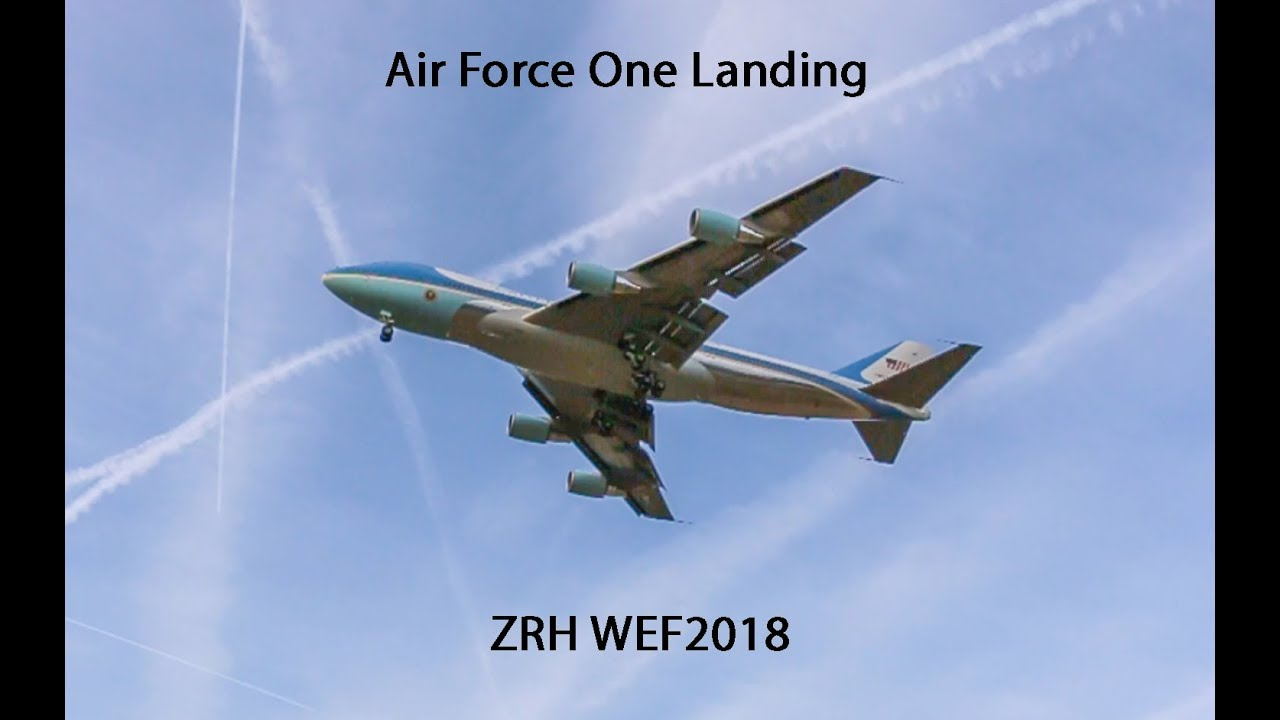 Download AIR FORCE ONE LANDING ZÜRICH FOR WEF2018 (with ATC)