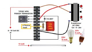 vuclip How to Make Simple DC to AC Inverter. ᴴᴰ