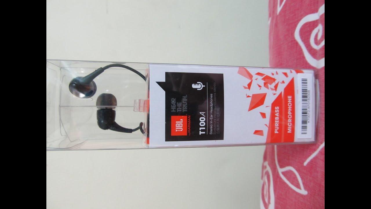 UNBOXING: JBL T100A In Ear Earphones (INDIAN RETAIL UNIT) - YouTube