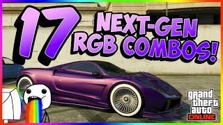 GTA Online - 17 BRAND NEW NEXT-GEN RGB COMBOS! (PC/XB1/PS4) (1.11)