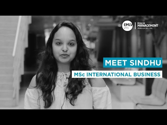 Meet Sindhu, MSc International Business student at EMLV Paris