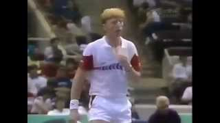 Boris Becker vs McEnroe - Davis Cup 1987 - Hartford