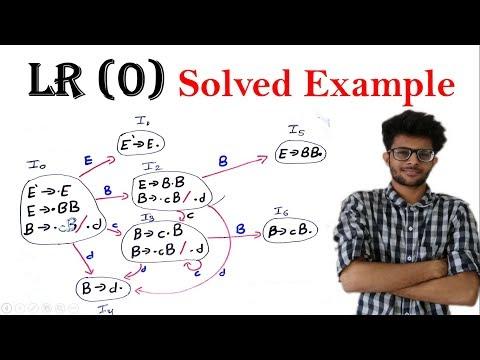 LR Parsing   LR (0) item    LR (0) Parsing table solved example  Compiler Design Lectures for Gate