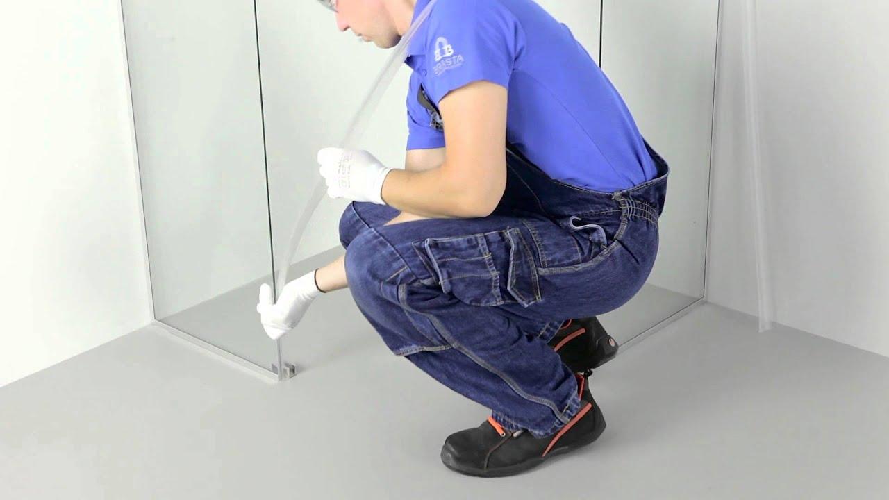 VESTA shower enclosure assembly guide - YouTube