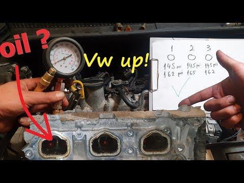 Volkswagen Up ! Cylinder Compression & Valve Leak Test 1.0 Petrol Engine