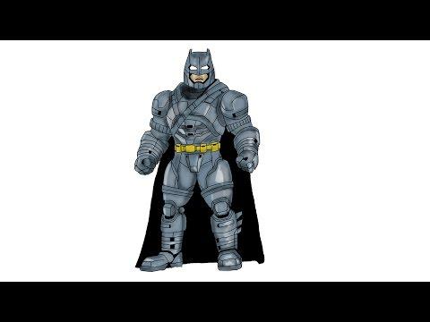 iPad Pro, How to draw Armored BATMAN 2016, Batman vs Superman Dawn of Justice
