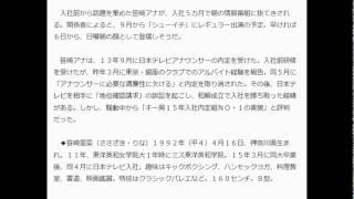 日テレ笹崎里菜アナ「シューイチ」で初レギュラー 日刊スポーツ 8月15日...