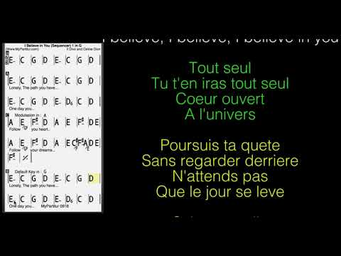 I Believe In You Chords at MyPartitur Lyrics