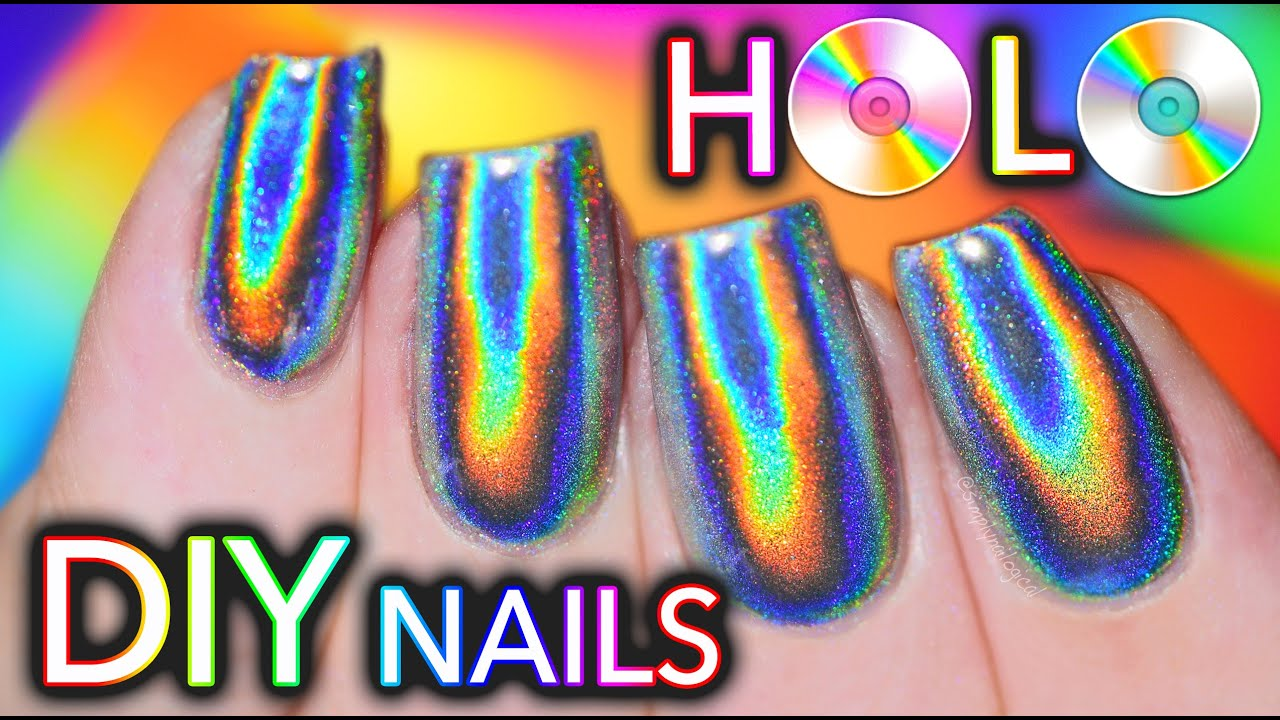 100% PURE HOLO (holographic) NAILS! GEL and NO-GEL POLISH!! - YouTube