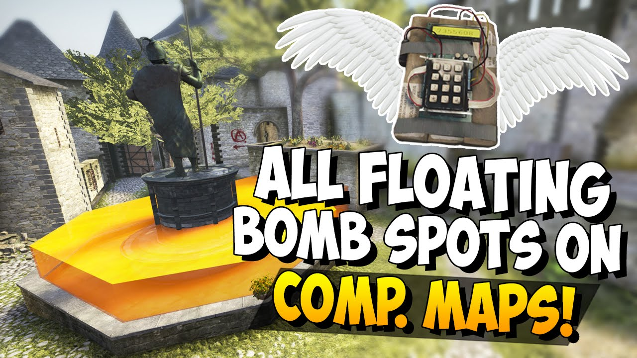 CS:GO - All Floating Bomb Spots on Competitive Maps