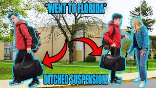 SKIPPING MY IN SCHOOL SUSPENSION! *CAUGHT*