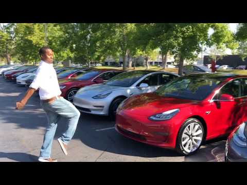 New Tesla Model 3 Pickup From Fremont Delivery Center I Got My Tesla Model 3 #teslamodel3