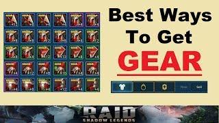 ~Best Ways~ To Get *GEAR* in Raid: Shadow Legends