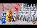 CAN THE ANIMATRONICS & MARSHMELLO DEFEAT THE EVIL MARSHMELLO ARMY? (GTA 5 Mods FNAF Kids RedHatter)