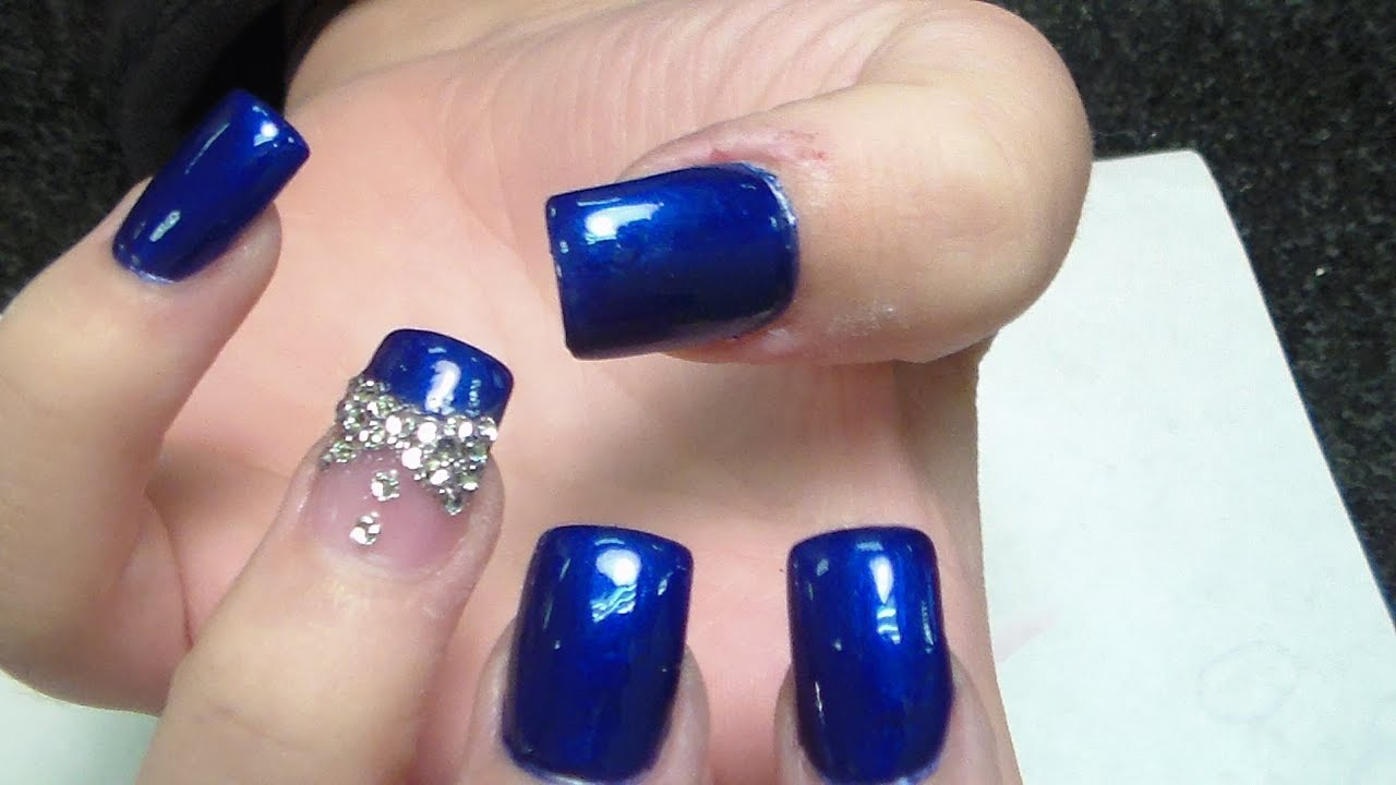 3d diamond bow nail art design