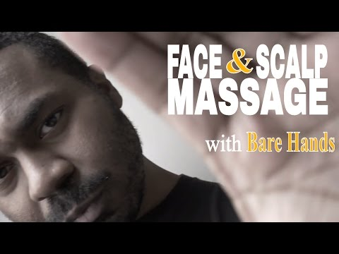 ASMR Face Massage & Scalp Massage Role Play with Bare Hands for SLEEP | Hand Movements & Hand Sounds