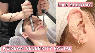 I Got a Korean Celebrity Facial + Ear Seeding ?? | TINA TRIES IT