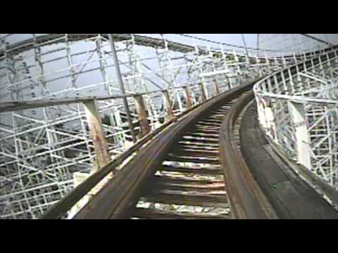 White Cyclone Wooden Roller Coaster Front Seat POV Onride Nagashima Spaland Japan