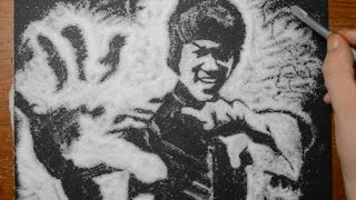 Drawing Bruce Lee with Sugar