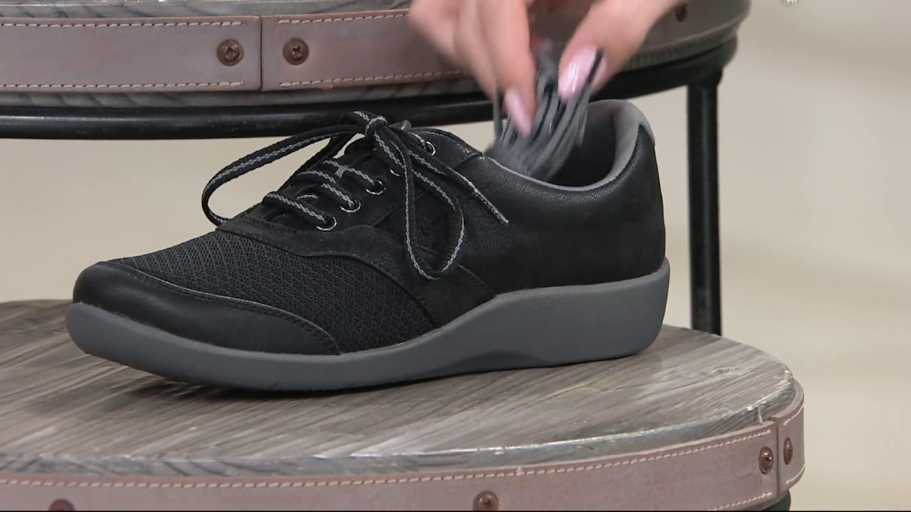 a2f405dd397 Clarks Cloud Steppers Lace-up Sneakers - Sillian Emma on QVC - YouTube