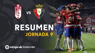 Resumen de Granada CF vs CA Osasuna (1-0)