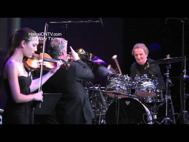 Madeleine Albright plays drums with Chris Botti
