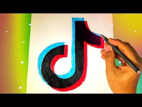 Как нарисовать логотип Tik Tok? Лёгкие рисунки для срисовки