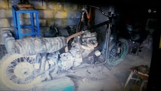 Мотоцикл с двигателем от Ваз 2109  Часть 4