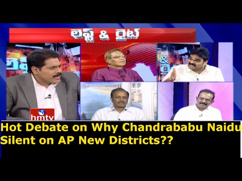Hot Debate on Why Chandrababu Naidu Silent on AP New Districts ?   Left & Right   HMTV
