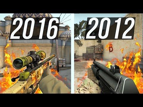 СРАВНЕНИЕ ОРУЖИЯ CS:GO 2012 и 2016