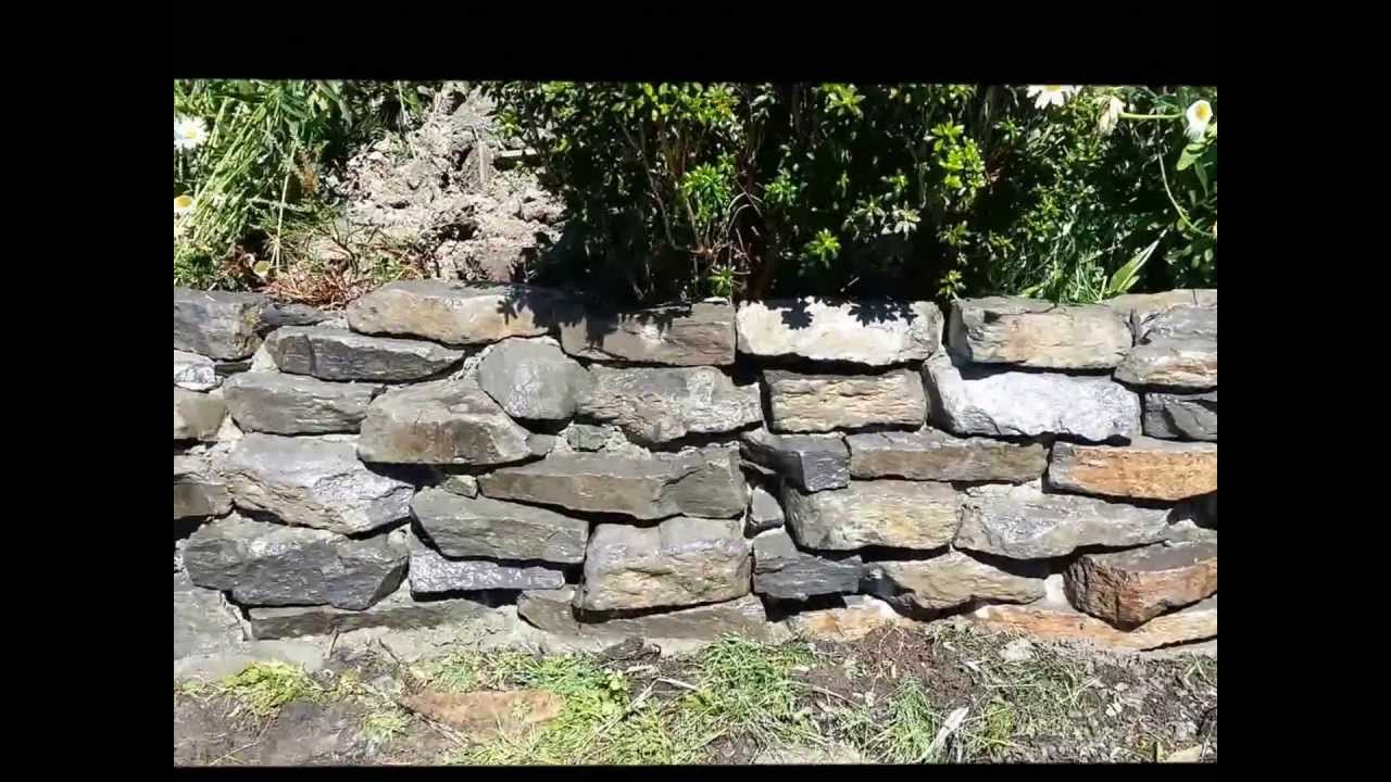 how to build rock garden wall - youtube