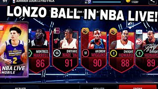 BIG VARIETY PACK OPENING IN NBA LIVE MOBILE! AMAZING PULL FROM PRO PACK! #126