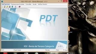 Declaracion PDT 0621 Renta Mensual