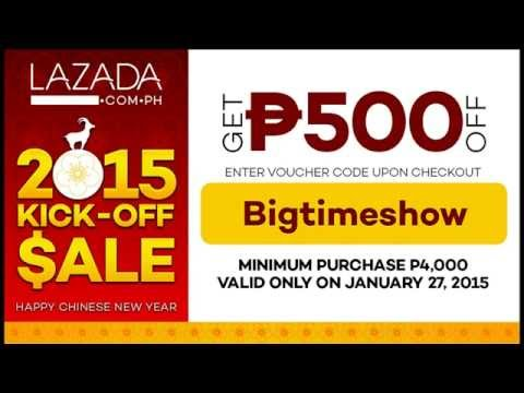 Lazada 2015 Kick-Off Sale Tomorrow Jan 27 - Giving Away PHP 500 Vouchers!
