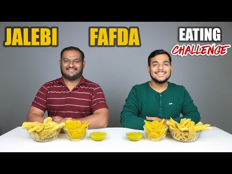 JALEBI & FAFDA EATING CHALLENGE | Jalebi And Fafda Eating Competition | Food Challenge