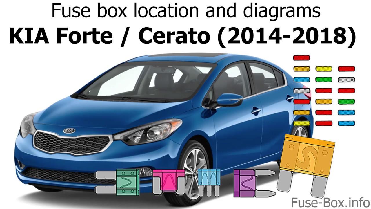 hight resolution of fuse box location and diagrams kia forte cerato 2014 2018 youtubefuse box location and