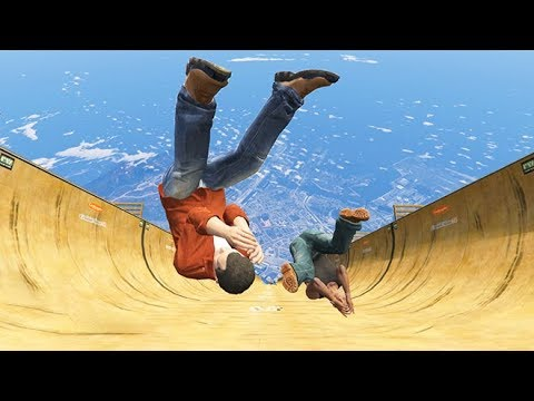 GTA 5 CRAZY Jumps Falls pilation Grand Theft Auto V Fails Funny