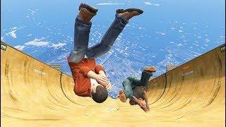 GTA 5 CRAZY Jumps/Falls Compilation (Grand Theft Auto V Fails Funny Moments)