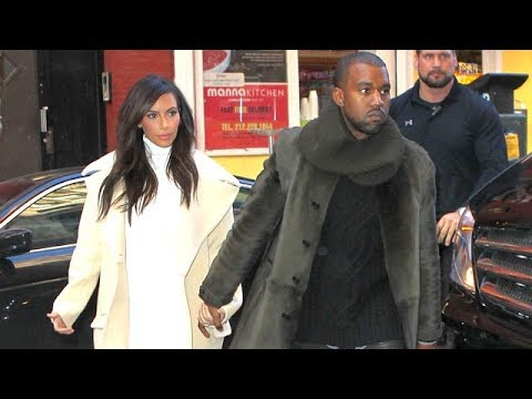 Fashionable Couple Kim Kardashian And Kanye West Enjoy A Lunch Date In NYC [2014]