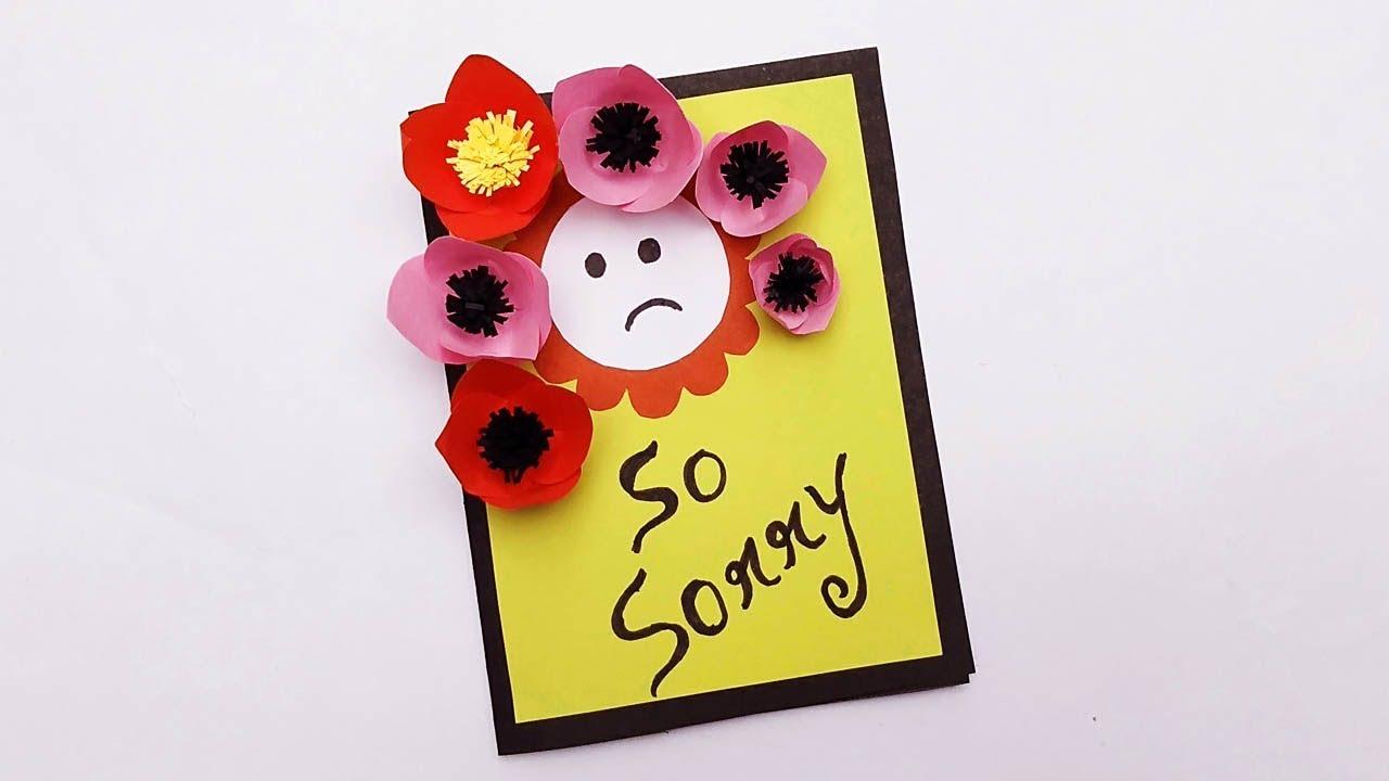 how to make a beautiful sorry card  handmade sorry card