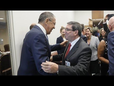 С.Лавров и глава МИД Кубы | Sergey Lavrov & Bruno Rodríguez Parrilla
