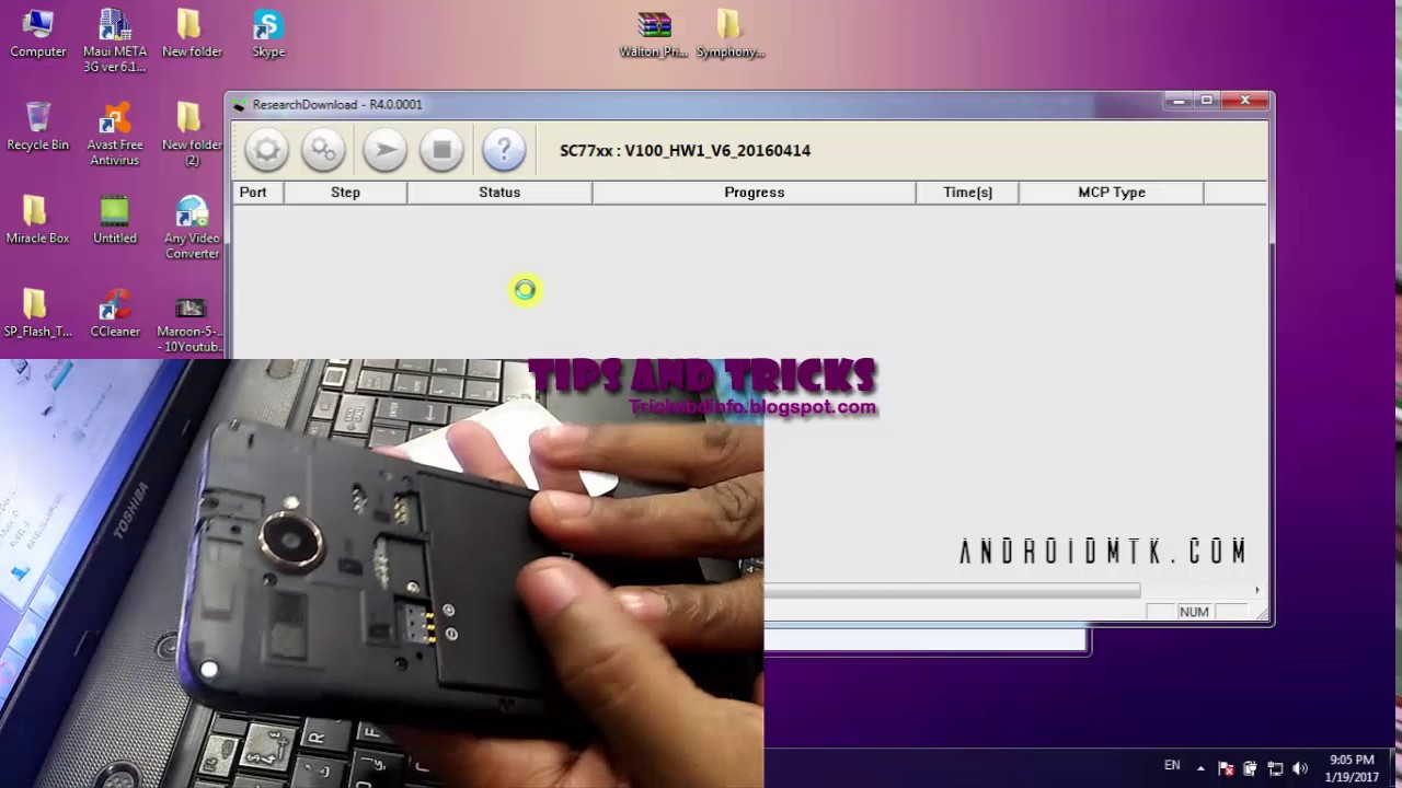 How To Flash Symphony V100 - Symphony V100 Firmware File by Tips and Tricks